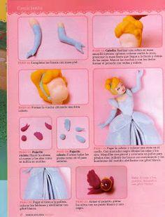 Cake Decorating And Tutorial: Tutorial principesse Disney