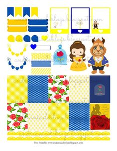 Andrea Nicole: Beauty & The Beast Planner Page Decor Free Printable Free Planner, Planner Pages, Happy Planner, Planner Layout, Planner Ideas, Planner Decorating, Printable Planner Stickers, Free Printables, Planner Organization
