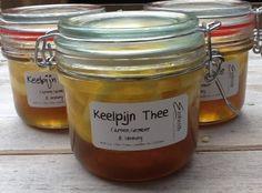 Keelpijn thee met Tijm, Honing, Citroen en Gember.