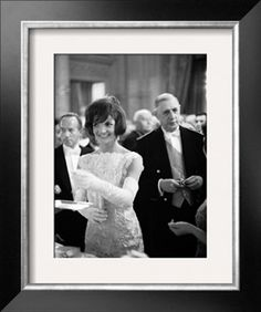 Jacquelin Kennedy Attending Luncheon W. Many Diginitaries Including French Pres. Charles Degaulle Photographic Print at Art.com