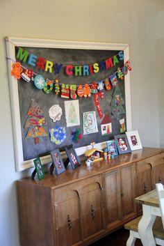 Childrens Christmas Art Chalkboard.