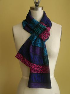 FREE DOMESTIC SHIPPING Colorful Striped Scarf Purple by Olimpias