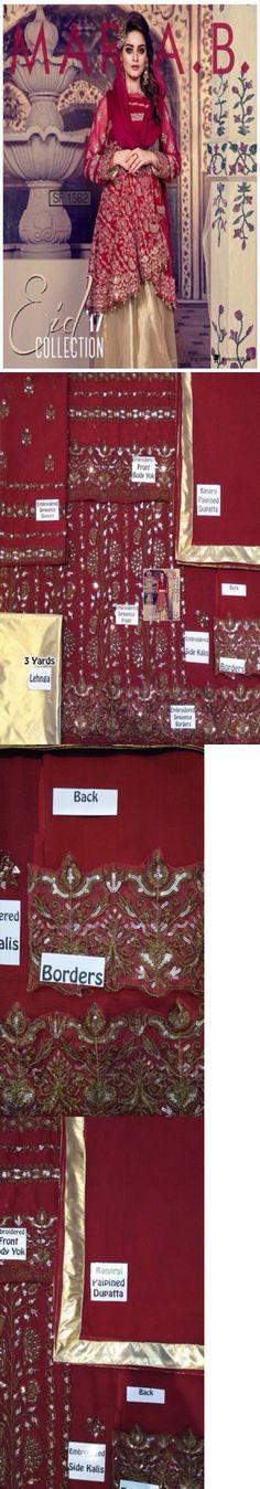 Salwar Kameez 155249: Pakistani Maria B Zainub Chottani Asim Jofa Rozina Munib Inspire Kameez Eid -> BUY IT NOW ONLY: $115.5 on eBay!