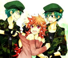Happy Tree Friends drawn as Anime Characters: Flippy and Flaky
