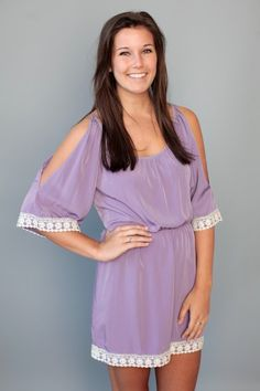 Love in the Afternoon Dress-Lavender