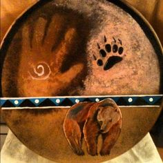Bear medicine made and painted by Lozen BrownBear    http://www.etsy.com/shop/LozensArt