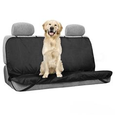 Happy-Paws Waterproof Pet Seat Cover for Backseat - Black * Unbelievable dog item right here! : Pet dog bedding
