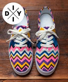 Missoni Sneakers - DIY Missoni Sneakers - Refinery29.com | Get a closer look at these DIY Missoni sneakers. Yep, Refinery29.com shows you have to create your own Missoni sneaker style using these easy tips. #refinery29 http://www.refinery29.com/who-needs-target-diy-missoni-shoes