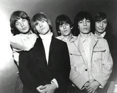 The Rolling Stones 1960s | The Rolling Stones in the 1960s. From left: Jagger, Jones, Richards ...