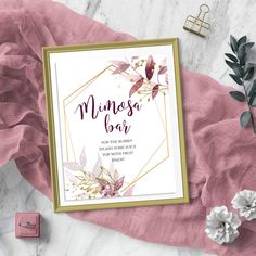 Mimosa bar sign Mimosa bar Bar sign wedding Bar sign Wine | Etsy Wedding Signs, Boho Wedding, Wedding Day, Wine Signs, Bar Signs, Bridal Shower Wine, Mimosa Bar Sign, Baby Shower Signs, Blush Roses