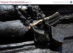 SALE black druzy earrings, Brazilian jewelry. $54.50, via Etsy.