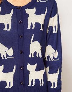 A Wear Cat Jacquard cardigan  Love this! this was made for me! ;)