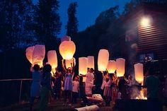 lanterns! Real Weddings: Dara & Choeuth's 3,500 dollar Smoky Mountain Wedding