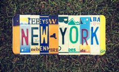 License Plate Art, Gifts For Surfers, Dorm Room Walls, Surf Decor, New York Homes, Personalized Gifts For Dad, Childrens Gifts, Surf Art, Signs