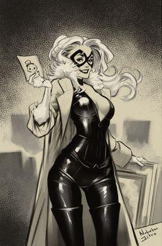 Black Cat by Nabeste Zitro * Marvel Women, Marvel Girls, Marvel Art, Marvel Dc Comics, Marvel Heroes, Spiderman Black Cat, Black Cat Marvel, Spiderman Art, Comic Book Artists