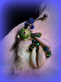 Turtle Shell Belly Ring Natical Jewelry Beach by Lusmysticjewels, $16.00
