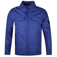 C.P. Company Blue Zip Through Goggle Jacket. Available now at www.brother2brother.co.uk