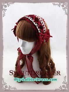 Sweet Dreamer Lace Up Bows Crosses Lolita Headband