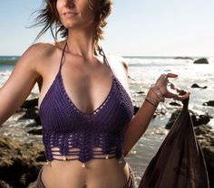 Crochet Top Tribal Moon Bell Top. Festival by MoonsEyeDesigns