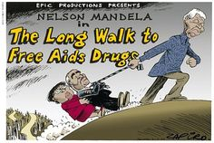 Who says politics are light and easy! Nelson Mandela free AIDS campaign in Cape Town and South Africa