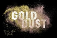 FREE! (6 Feb-13 Feb 2017 only! Download Now!) Gold Dust Glitter Effects by Alaina Jensen on @creativemarket
