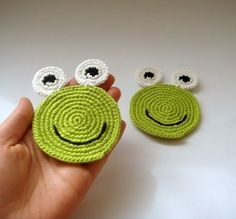 Frog coasters (set of 2) all natural - eco friendly geek
