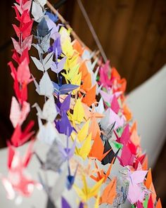 Origami cranes @Carol Van De Maele Van De Maele Henry Wedding