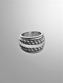 Thoroughbred sculpted cable ring