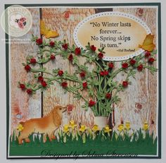 Selma Stevenson welcomes the beginning of Spring on our blog! Selma combined several Susan's Garden Club products: CountryScapes Flora 5; CountryScapes Clouds & Grass; CountryScapes Garden Edges Daffodil; CountryScapes Critters 3; Garden Notes Bugs & Butterflies; Seeds of Thought Winter Spring. Selma also used Soft Finish Cardstock and Els van de Burgt's Stitched Ovals and Through the Lens patterned cardstock (Wood). Find everything you need here: https://www.elizabethcraftdesigns.com/