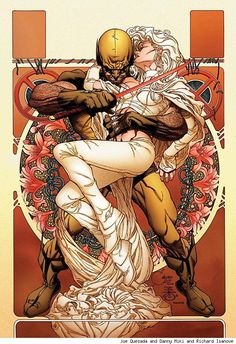 Wolverine and Emma Frost by Joe Quesada and Danny Miki and Richard Isanove