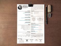 CV/Resume and Portfolio by Patty Piturlea, via Behance