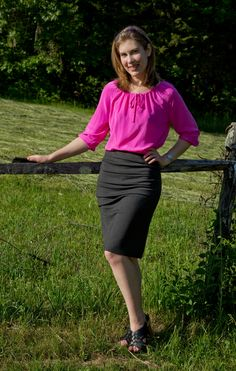 StyleArc Ali knit skirt / StyleArc Anita top | Clothing Engineer