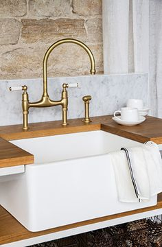 My favourite tap with Porcelain Lever Handles I Kitchen Gallery | The English Tapware Company in Melbourne