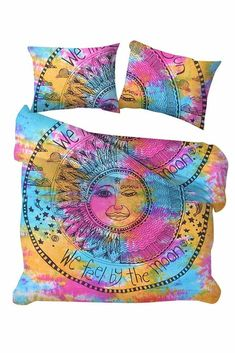 Hippie Burning Sun Mandala Cotton Doona Blanket Boho Throw Duvet Indian Covers  #Handmade #Traditional Blanket Cover, Quilt Cover, Bed Covers, Pillow Covers, Cotton Duvet, Cotton Fabric, Sun Mandala, Mandala Duvet Cover, Comforter Cover