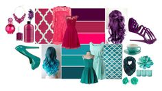 """""""pink and aqua"""" by deathybethy on Polyvore featuring Cultural Intrigue, philosophy, BCBGeneration, Karen Millen, Little Mistress, Eye Candy, Essie, Jamie Young, Britney Spears and Bling Jewelry"""