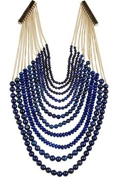 Shop for Rosantica Raissa gold-dipped lazuli necklace by Lapis at ShopStyle. Bijou Box, Jewelry Accessories, Jewelry Design, Italian Jewelry, Gold Dipped, Beaded Jewelry, Beaded Necklaces, Brass Necklace, Handmade Necklaces