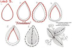 How to draw Paisley Leaf 03 Foulden by Quaddles-Roost on DeviantArt