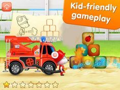 FireTrucks: 911 rescue (educational app for kids) for iPad - an interactive play app with 5 fire trucks. Appysmarts score: 89/100