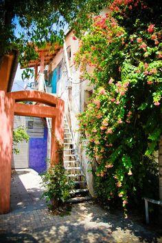 Houses in old Tel Aviv, Israel