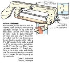 Bow Sander - Sanding Tips, Jigs and Techniques   WoodArchivist.com