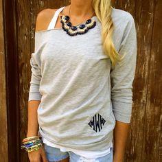 Monogram Sweatshirt (thinking I will DIY)