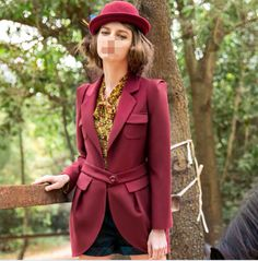 Fashion ladys long section Slim type suits collar solid color suit coats jacket #Other #BasicCoat