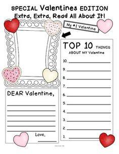 Valentine's Day Newspaper FREE :)
