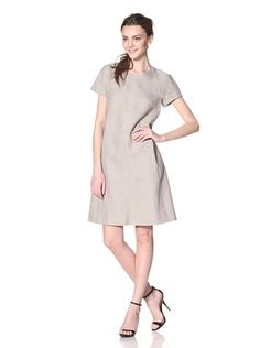 Les Copains Women's Sand Short Sleeve Shift Yes, she is wearing a sad bag....