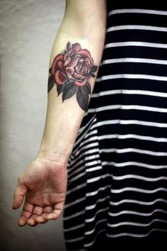 Rose Tattoo By Alice Carrier  http://www.tattooesque.com/wp-content/uploads/2014/06/Rose-Tattoo-By-Alice-Carrier-682x1024.jpg http://www.tattooesque.com/rose-tattoo-alice-carrier/ #ArmTattoos, #FlowersTattoos