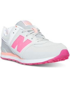 Summertime fun is just around the corner with the bright and airy New Balance Big Girls' 574 State Fair Casual Sneakers. Colorful suede with pops of breathable mesh keeps her feet happy all season lon New Balance Sneakers, New Balance Shoes, Cute Sneakers, Casual Sneakers, Sock Shoes, Kid Shoes, New Balance Style, Shoe Game, Little Girls