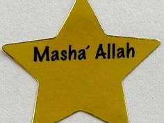 Mashallah Gold Crescents and Stars Stickers   The Muslim Sticker Company