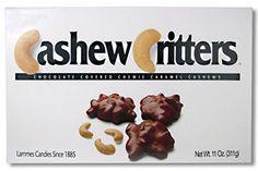 Lammes Candies Cashew Critters - Milk Chocolate Covered Chewie Caramel Cashews, 11 Oz. LAMMES