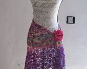 Summer meadows hand crocheted shawl