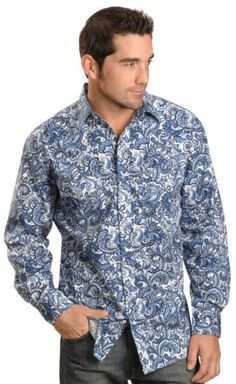 Red Ranch Blue Paisley Western Shirt available at #Sheplers